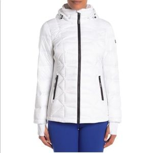 Michael Michael Kors Missy Puffer Jacket in White